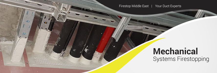 Mechanical Systems Firestopping by Firestop Middle East